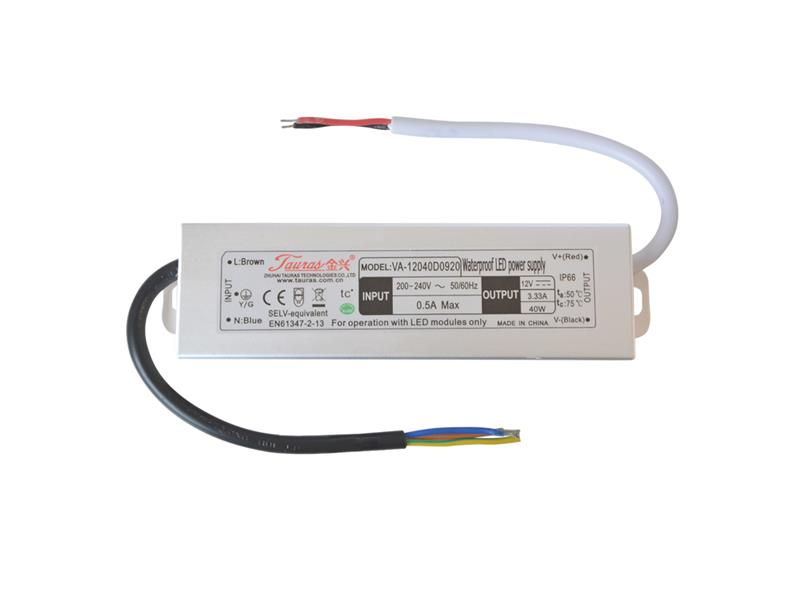 Zdroj spínaný pro LED diody + pásky IP66, 12V/ 40W/3,3A