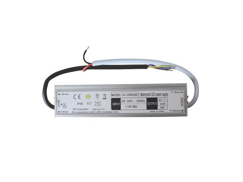 Zdroj spínaný pro LED diody + pásky IP66, 12V/ 80W/6,67A
