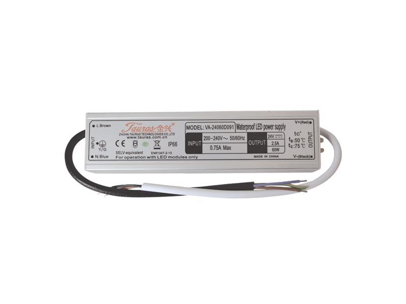 Zdroj spínaný pro LED diody + pásky IP66, 24V/60W/2,5A