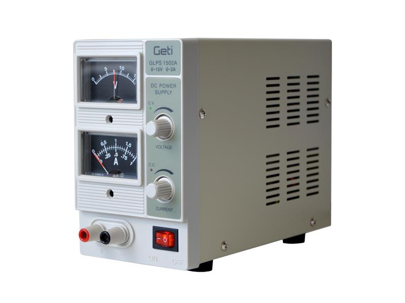 Zdroj laboratorní Geti GLPS 1502A  0-15V/ 0-2A