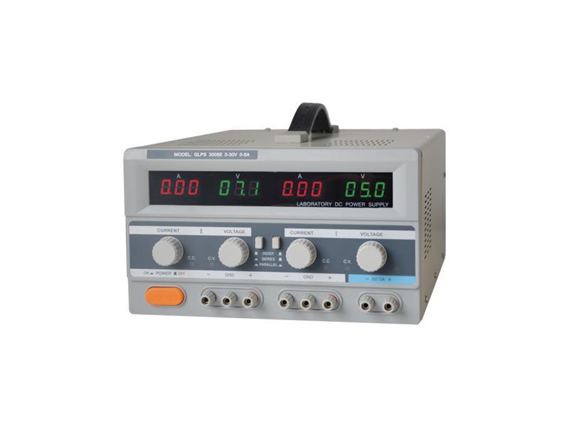 Zdroj laboratorní Geti GLPS 3005E  2x0-30V/ 0-5A+ (5V-3A)