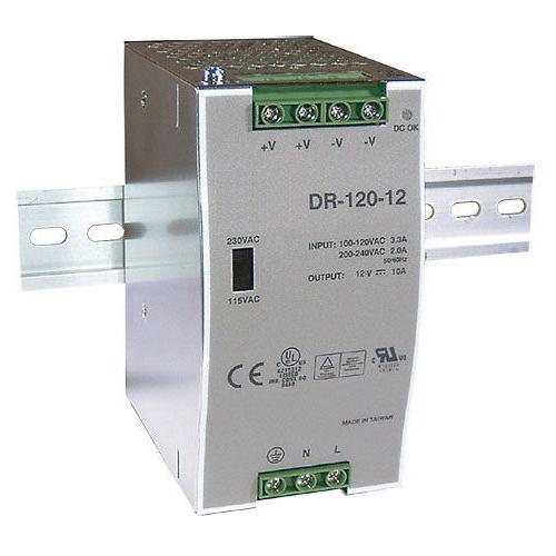 Zdroj 12V/120W spínaný DR-120 na DIN lištu