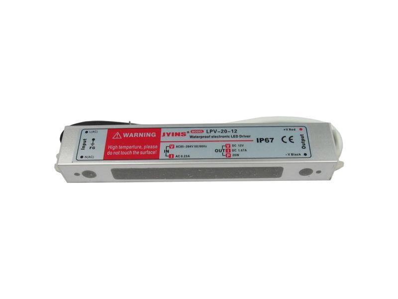 Zdroj-LED driver 12VDC/ 20W LPV20-12, JYINS
