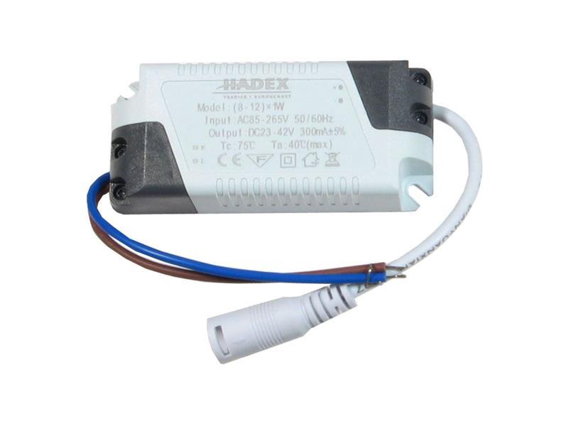 Zdroj pro LED 8-12W, 23-42V/300mA G075B