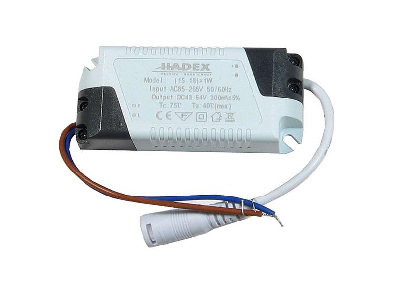 Zdroj pro LED 15-18W, 43-64V/300mA G076A
