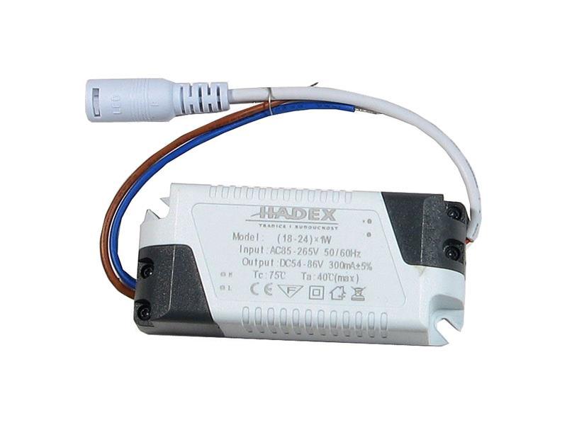 Zdroj pro LED 18-24W, 54-86V/300mA G076B
