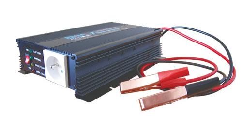 Měnič napětí 24V/230V  600W CZ + nabíječka autobateríi max.2A