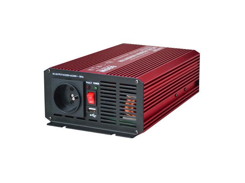 Měnič napětí 12V/230V  600W CZ čistá sinusovka + USB  CARSPA