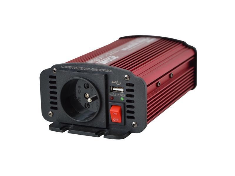 CARSPA 300U-242, 24V/230V - 300W + USB 5V