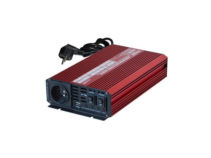 Měnič napětí 12V/230V  600W CZ UPS + nabíječka CARSPA UPS600