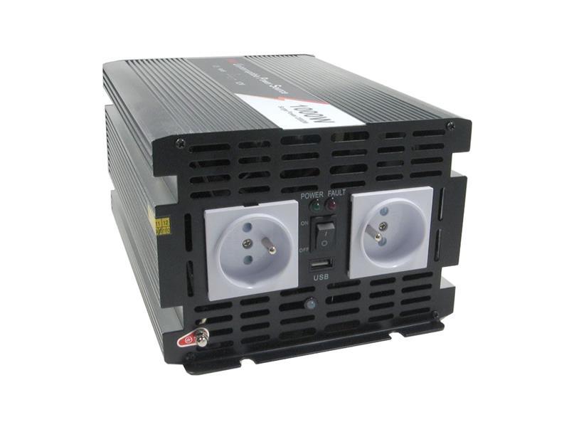 Měnič napětí 12V/230V 1000W CZ čistá sinusovka UPS+ nabíječka JYINS