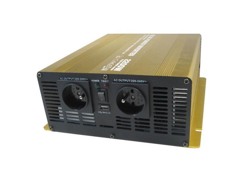 Měnič napětí 12V/230V 2200W CZ čistá sinusovka  Soluowill