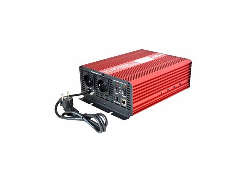 Měnič napětí CARSPA CPS1000 12V/230V 1000W čistá sinusovka+ UPS+ nabíječka
