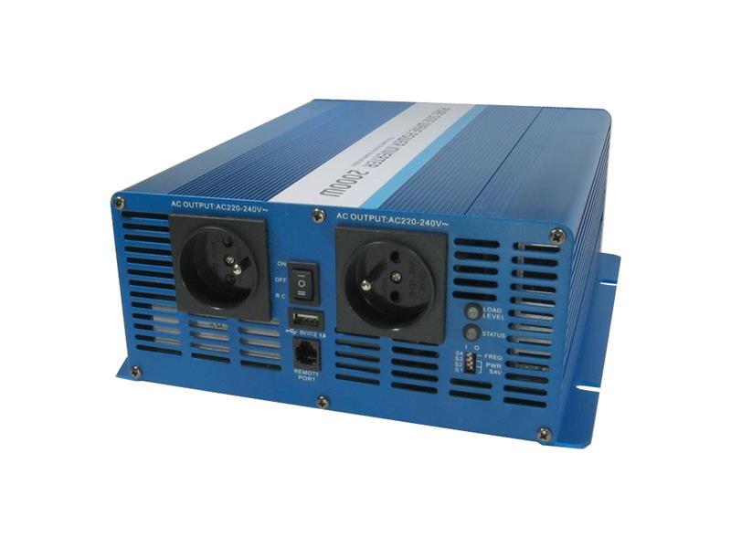Měnič napětí CARSPA SK2000 12V/230V 2000W čistá sinusovka