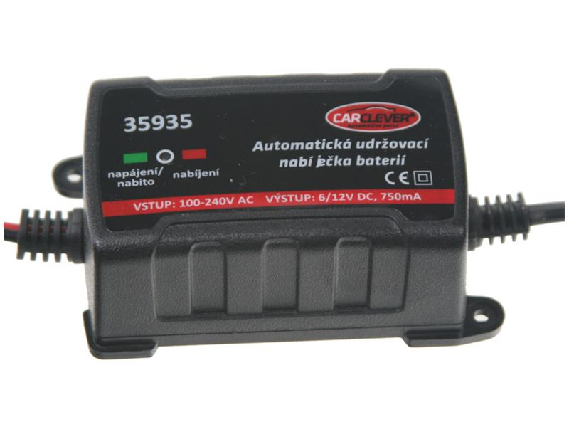 Nabíječka akumulátorů CARCLEVER 35935 6/12V-750mA