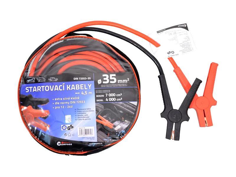 Kabely startovací 35mm se svorkami 4,5m TÜV/GS DIN72553