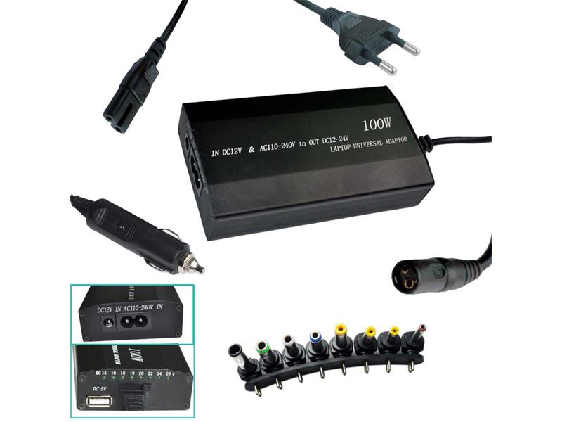 Nabíječka notebook 240V/12-24V 100W USB PATONA PT2536