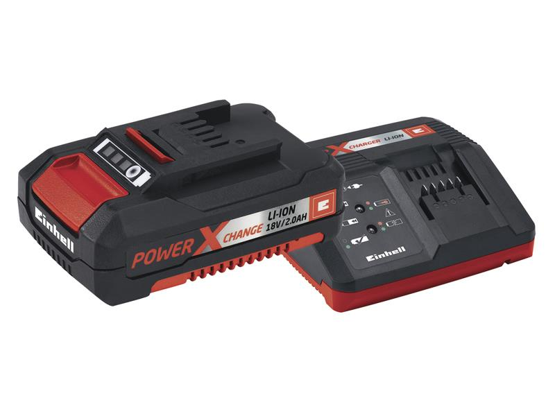 Nabíječka a baterie - set Power-X-Change 18V/2,0Ah pro aku přístroje Einhell Accessory STARTER K