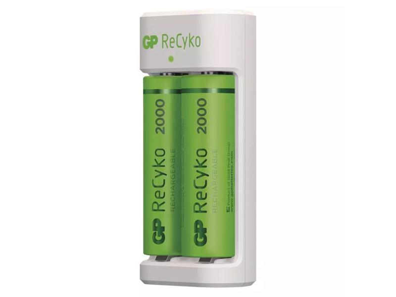 Nabíječka baterií GP Eco E211 + 2xAA ReCyko 2000