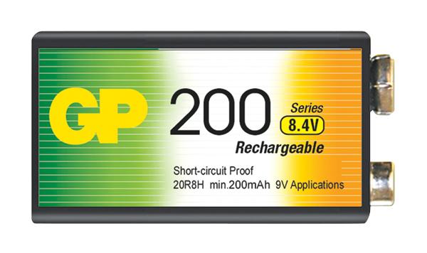 Baterie GP 200mAh 9V 1ks