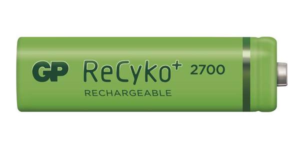 Baterie AA (R6) nabíjecí GP Recyko+ 2700mAh 2 ks v blistru
