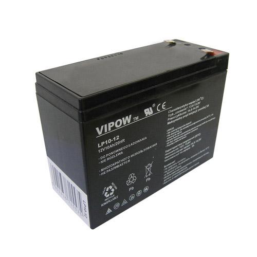 Baterie olověná 12V  10Ah VIPOW