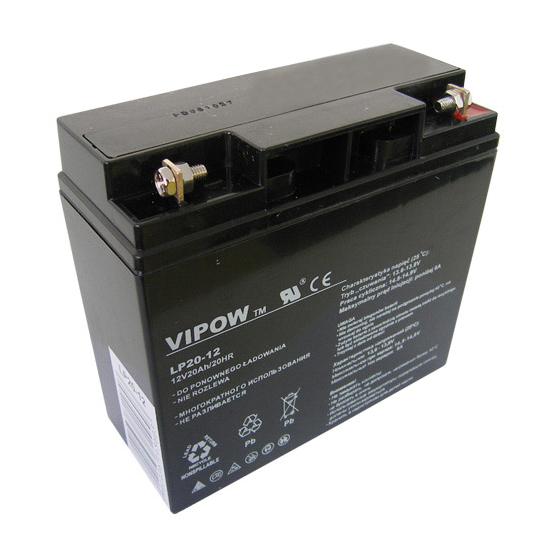 Baterie olověná 12V  20Ah VIPOW