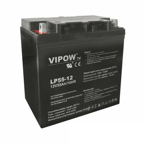 Baterie olověná 12V  55Ah VIPOW