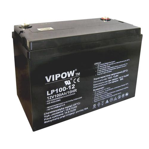 Baterie olověná 12V 100Ah VIPOW
