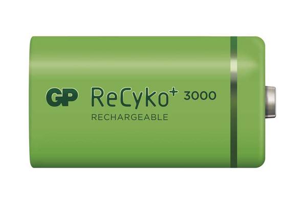 Baterie C (R14) nabíjecí 1,2V/3000mAh GP Recyko+