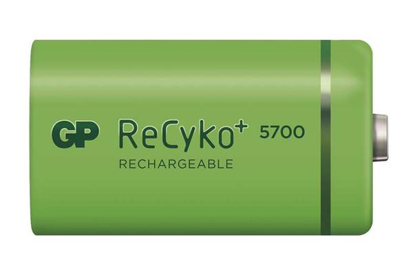 Baterie D (R20) nabíjecí 1,2V/5700mAh GP Recyko+