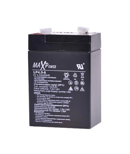 Baterie olověná  6V  4.5Ah REBEL
