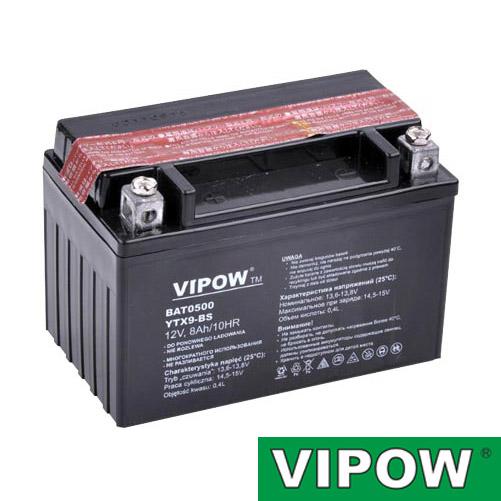 Baterie motocyklová 12V 8Ah Vipow motobaterie