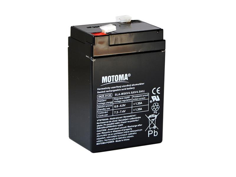 Baterie olověná  6V  4.5Ah MOTOMA