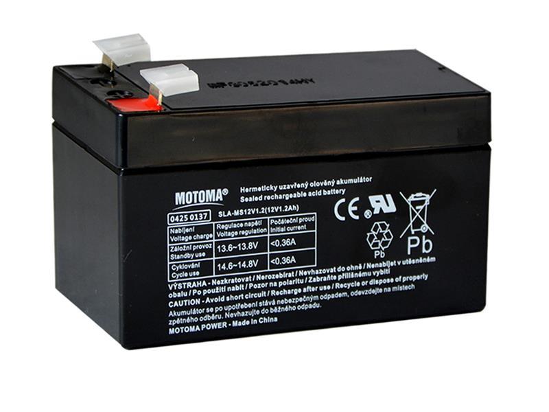 Baterie olověná 12V   1.2Ah MOTOMA