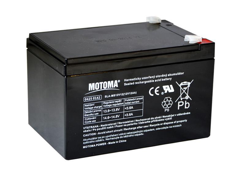 Baterie olověná 12V  12Ah MOTOMA