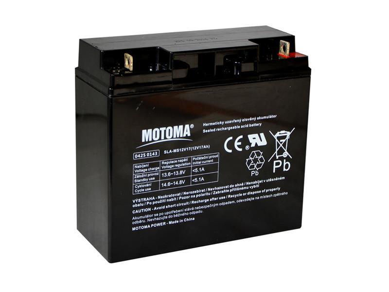 Baterie olověná 12V/17Ah MOTOMA bezúdržbový akumulátor