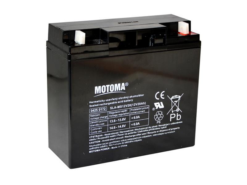 Baterie olověná 12V  20Ah MOTOMA