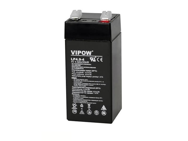 Baterie olověná 4V/4,9Ah VIPOW bezúdržbový akumulátor