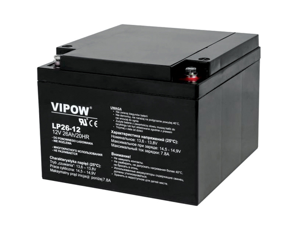 Baterie olověná 12V 26Ah VIPOW