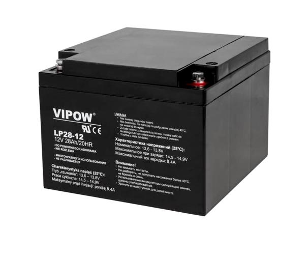 Baterie olověná 12V  28Ah VIPOW