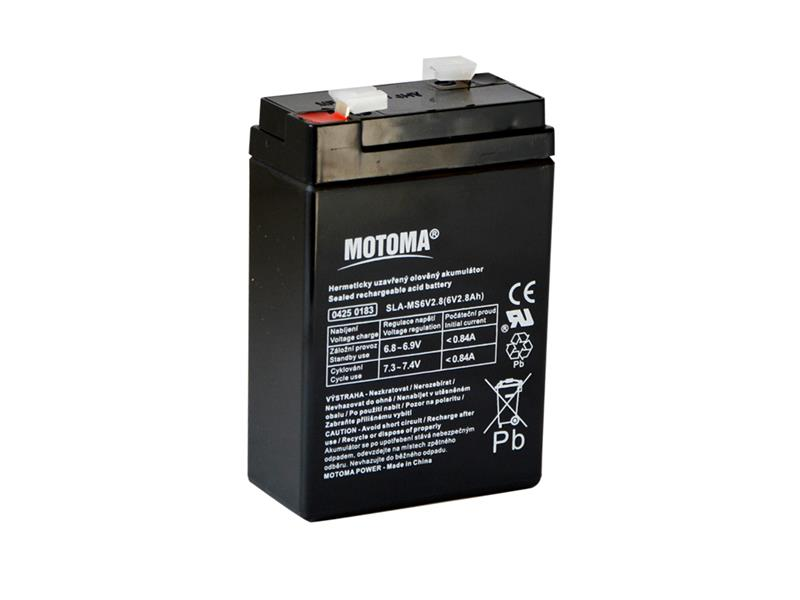 Baterie olověná 6V/ 2,8Ah MOTOMA bezúdržbový akumulátor