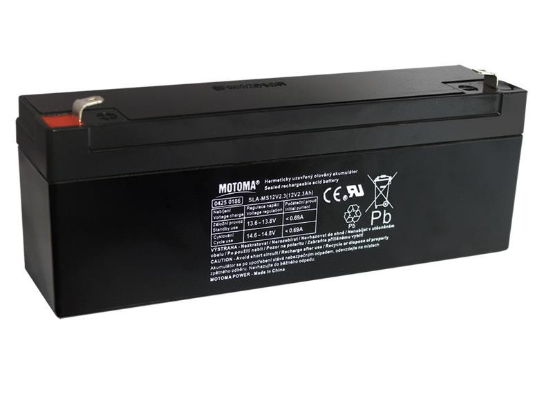Baterie olověná 12V 2,3Ah MOTOMA bezúdržbový akumulátor