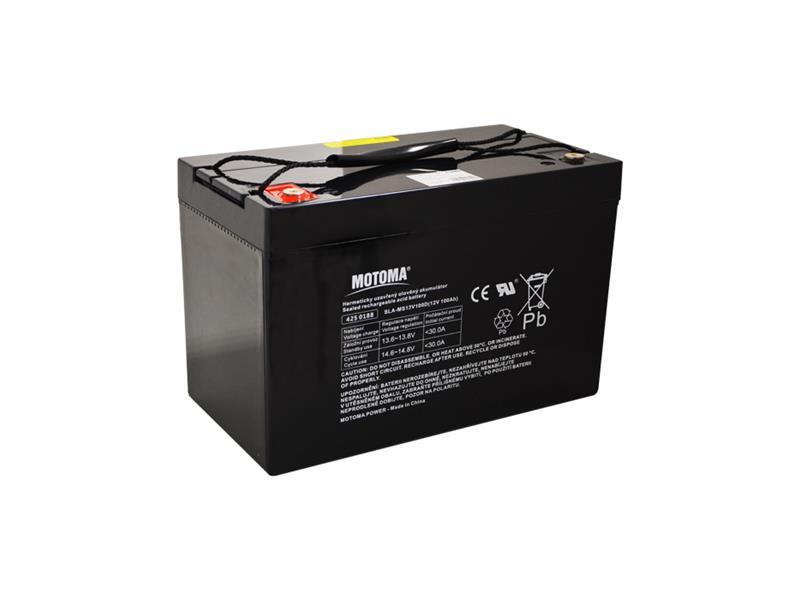 Baterie olověná 12V 100Ah MOTOMA pro soláry