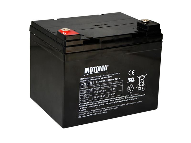Baterie olověná 12V  33Ah MOTOMA