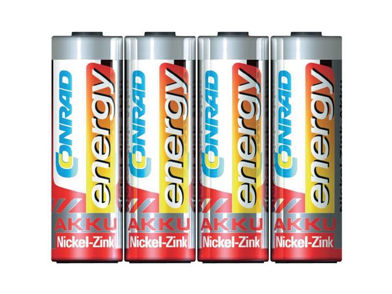 Baterie AA (R6) nabíjecí 1,6V/1500mAh CONRAD NiZn (blistr 4ks)