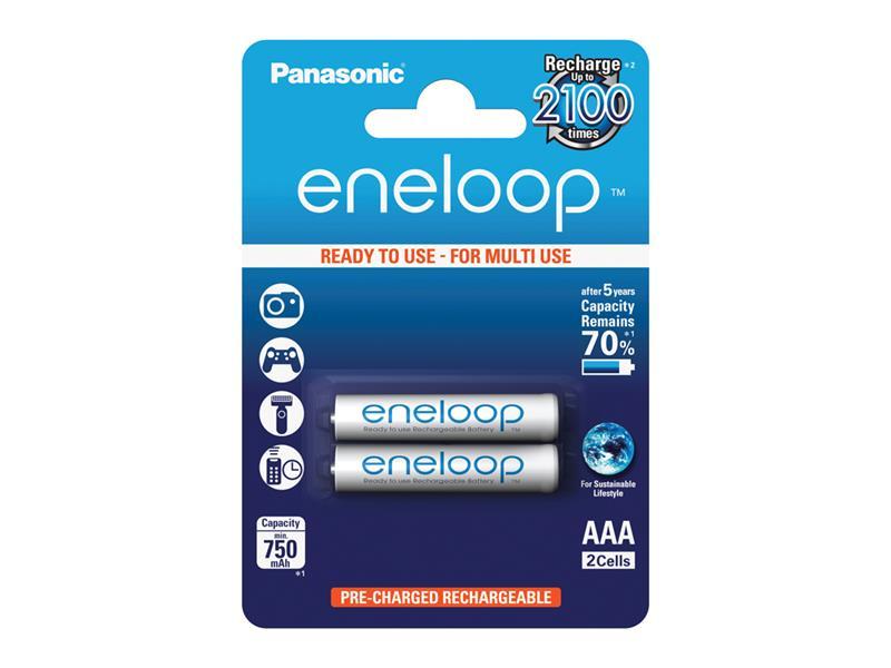 Baterie AAA (R03) nabíjecí Eneloop PANASONIC 1.2V / 750mAh 2kusy