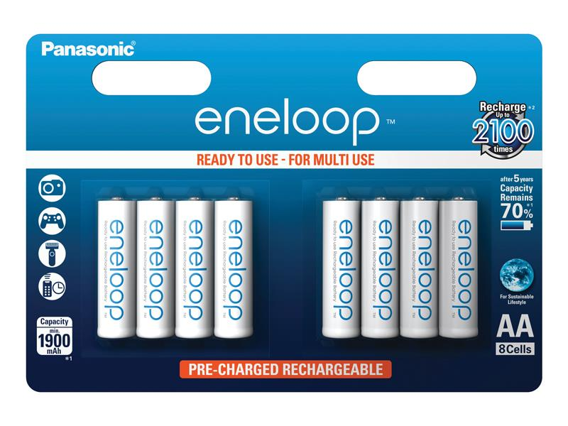 Baterie AA (R6) nabíjecí 1.2V/1900mAh Eneloop PANASONIC 8ks