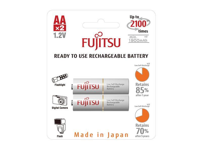 Baterie HR-3UTCEX-2B WHITE AA 2x FUJITSU nabíjecí