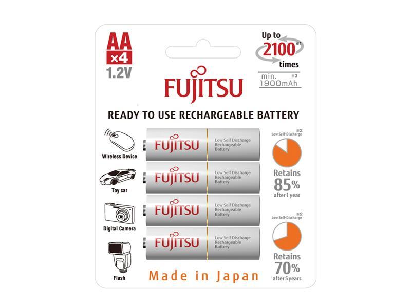 Baterie HR-3UTCEX-4B WHITE AA 4x FUJITSU nabíjecí 1900 mAh